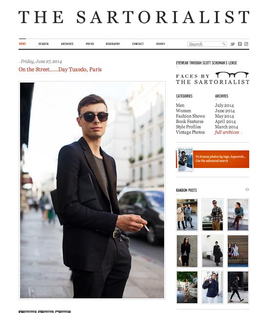 the sartorialist blog